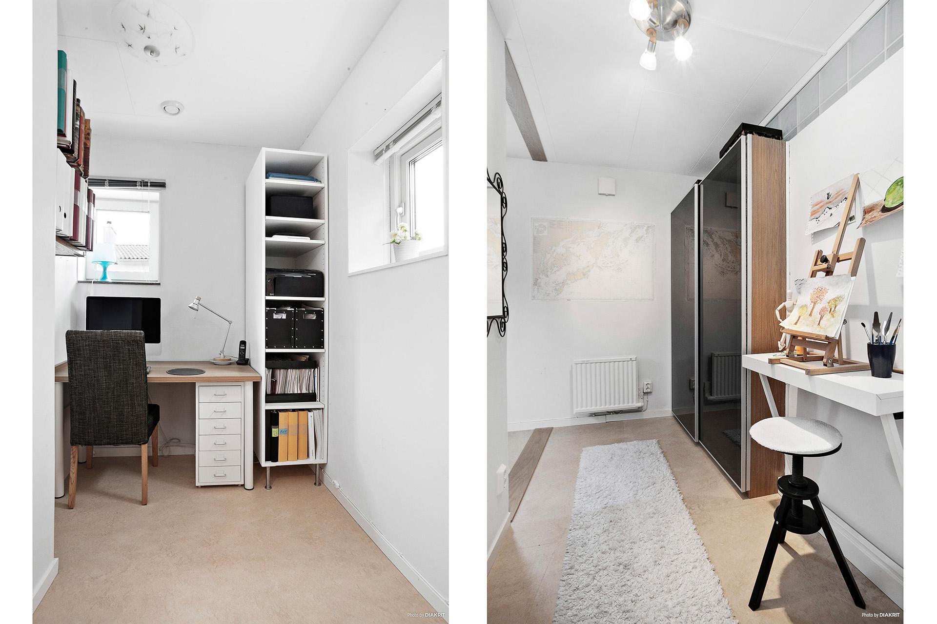 Ombyggt rum där klädkammaren eller kontoret ryms
