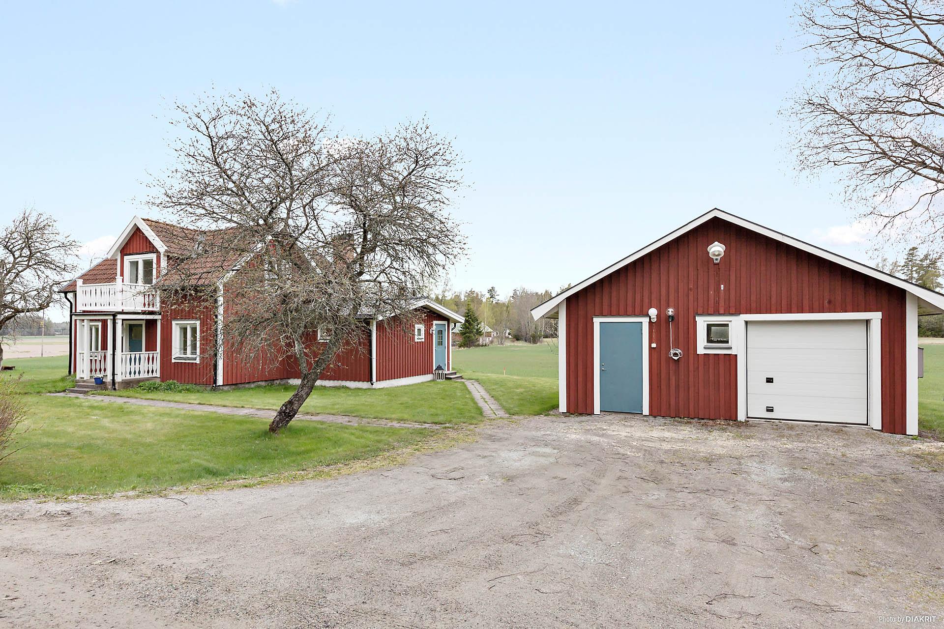 Huset och garaget