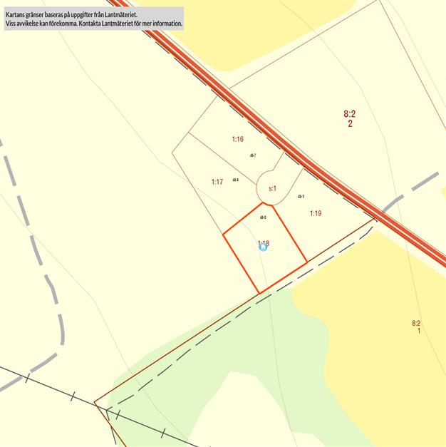 Fastighetskarta över tomten