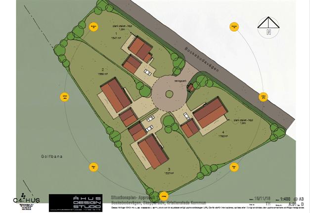 Karta över samtliga tomter