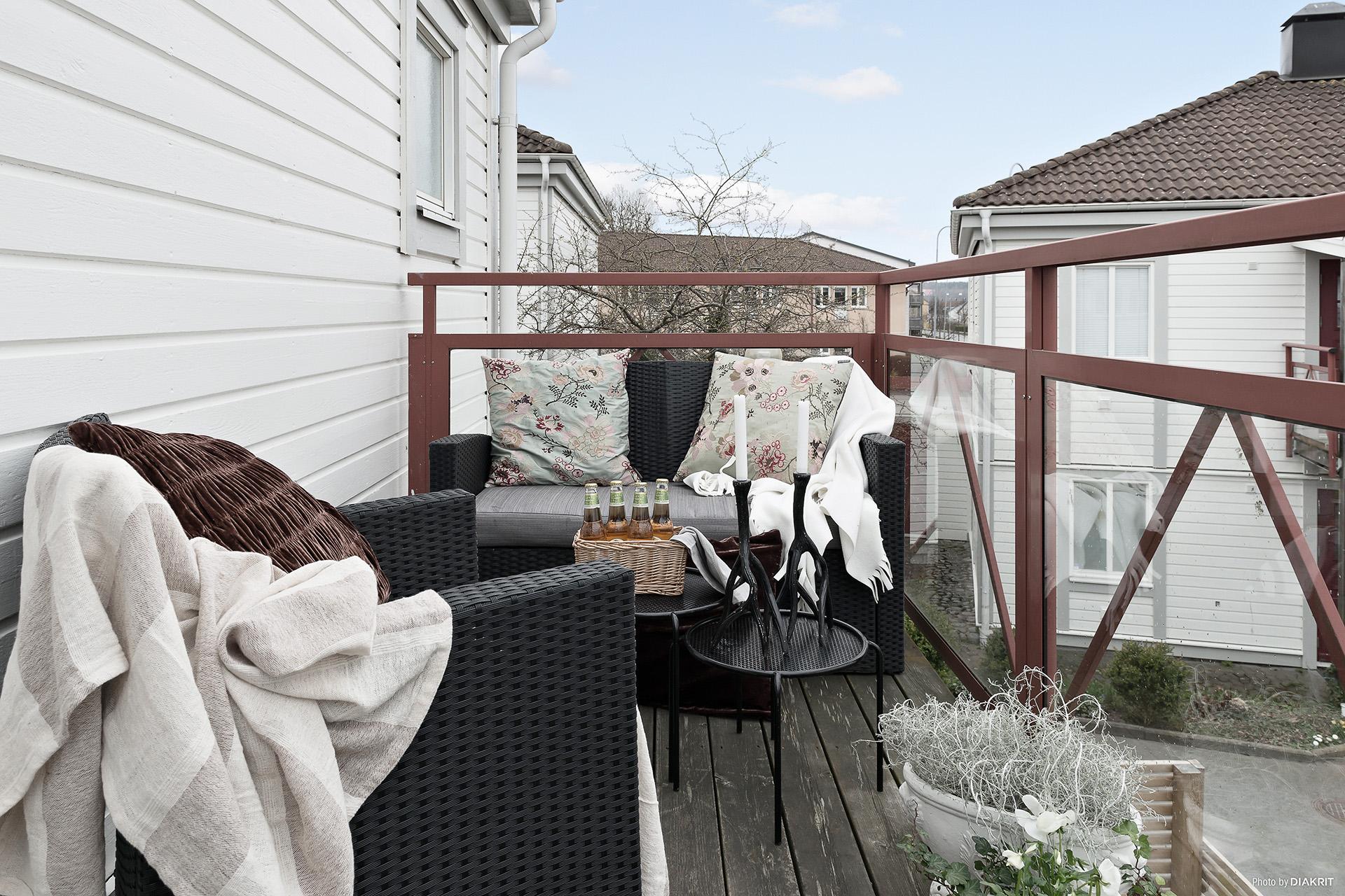 Härlig balkong!