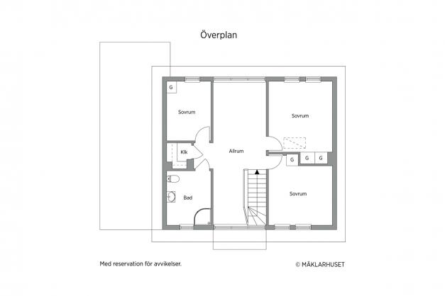 2D planskiss övre plan