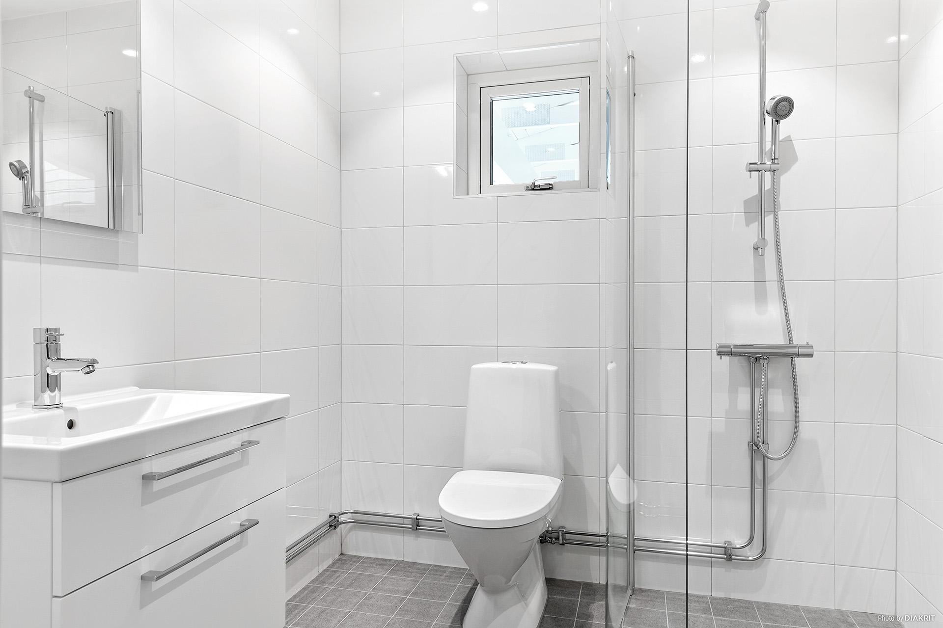 Badrum med dusch på entréplan
