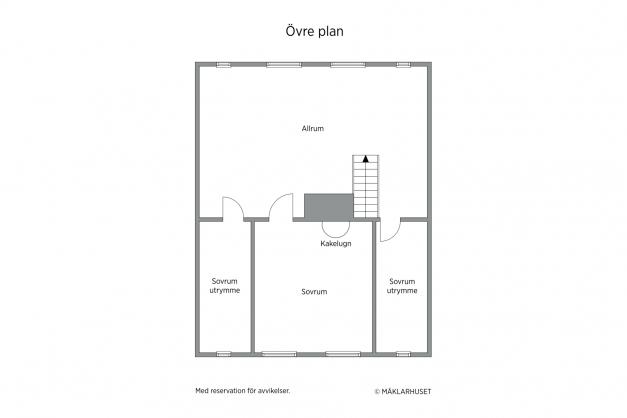 Flygel - lilla bostadshuset - övre plan