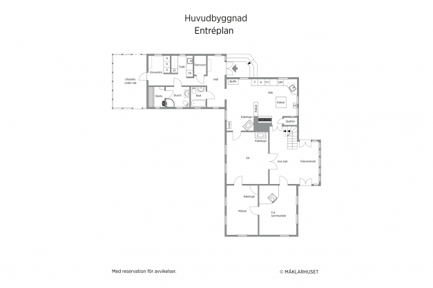 Huvudbyggnad - stora bostadshuset - entréplan