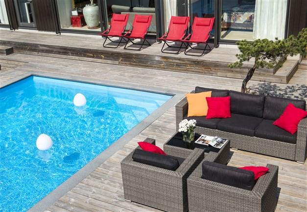 Underbart poolområde