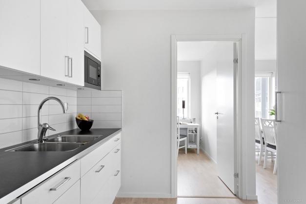 Fin kontakt mellan kök och vardagsrum