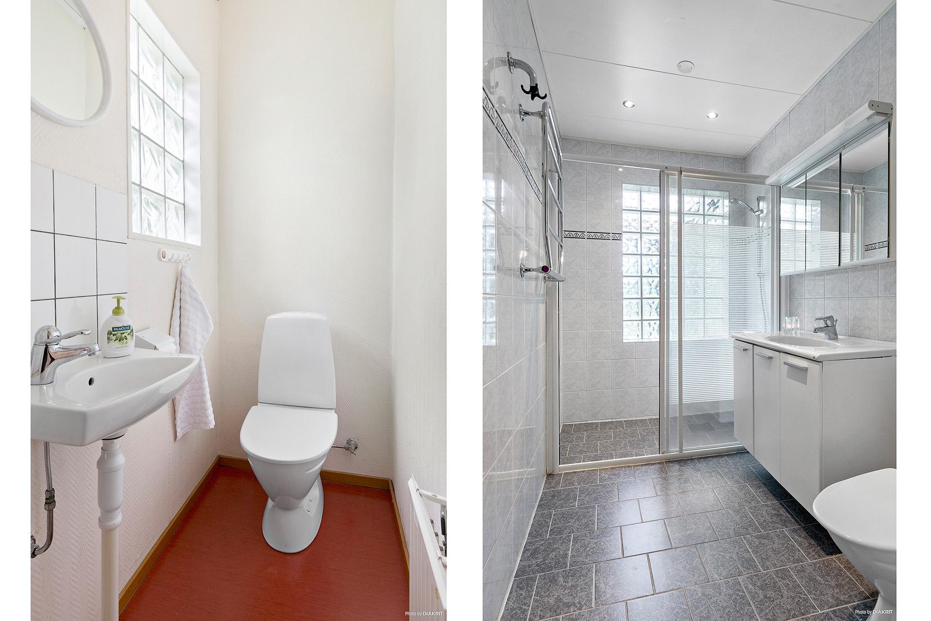 Gäst-WC och badrum