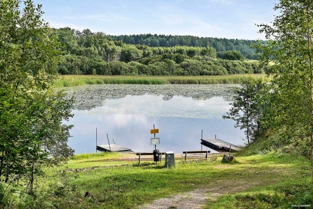 En av två badplatser vid sjön Sottern. Baggbol