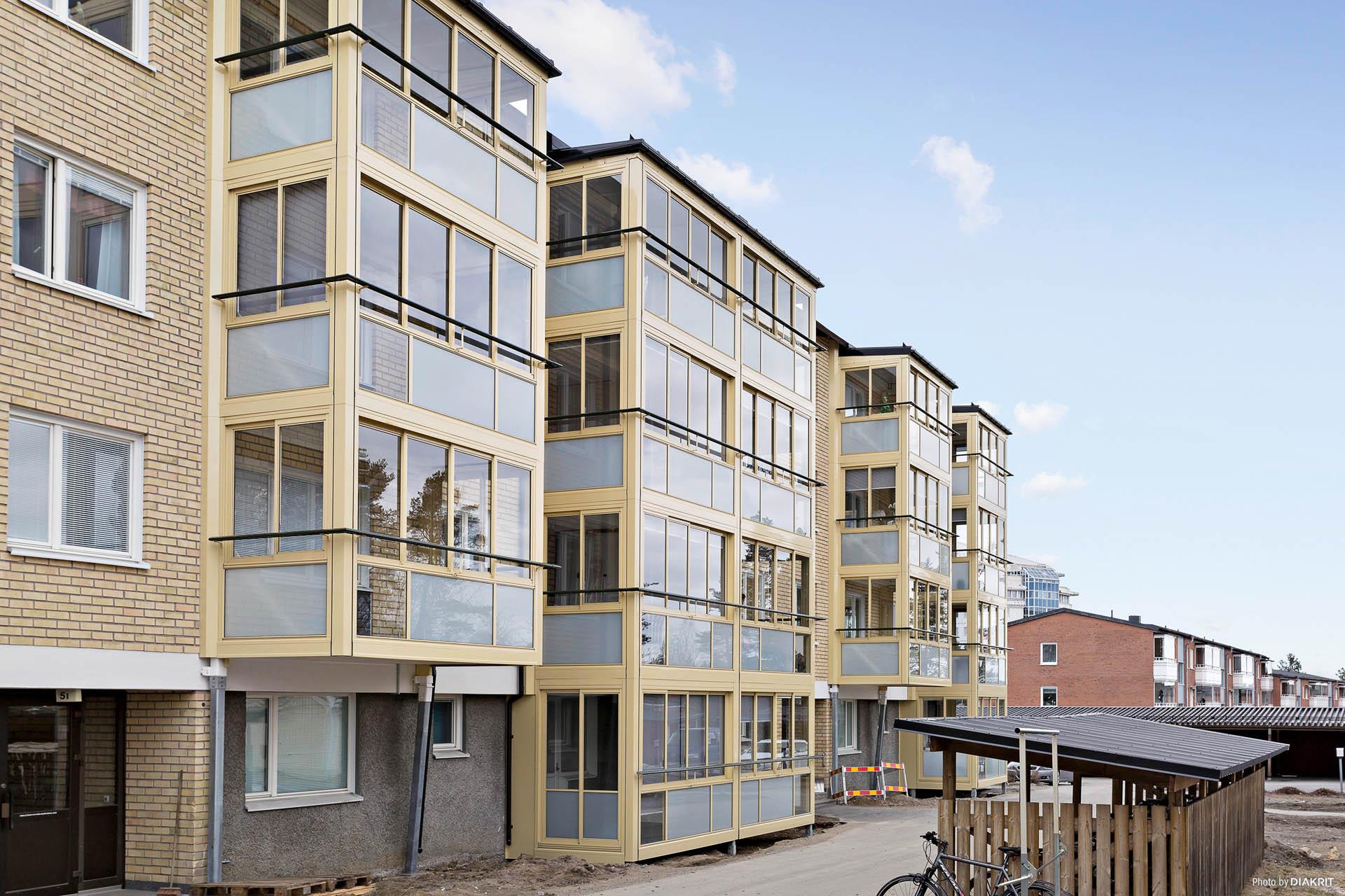 Fasad/inglasad balkong