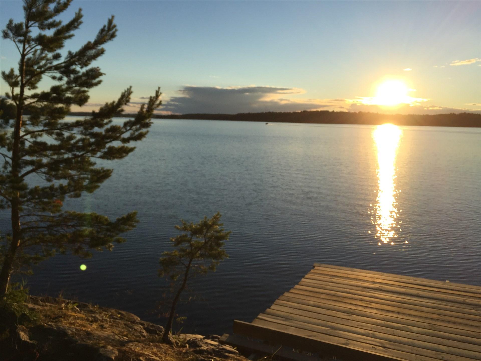 Kvällssol från båtplats