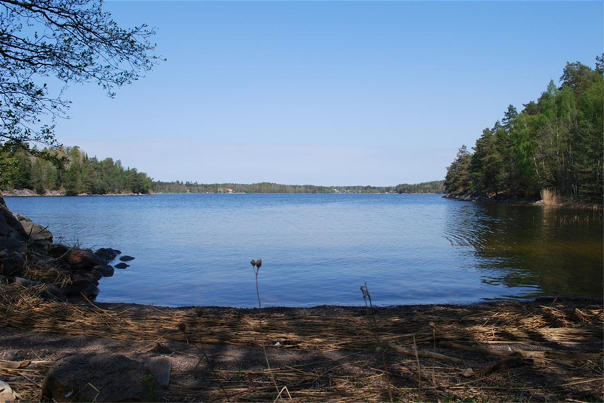 Naturstrand vid badplats