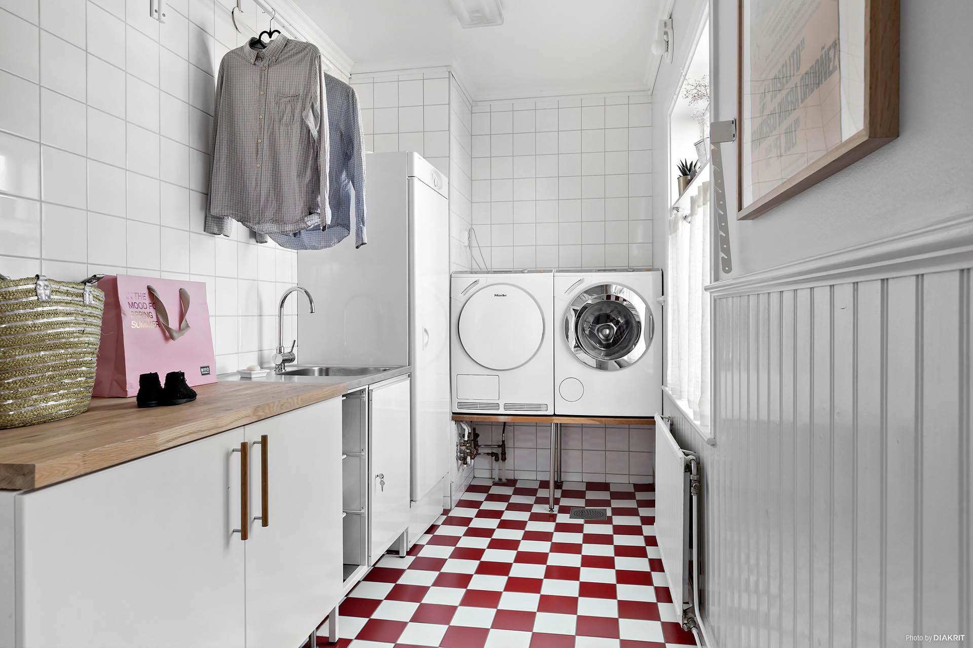 Tvättstuga/klädvård övre plan