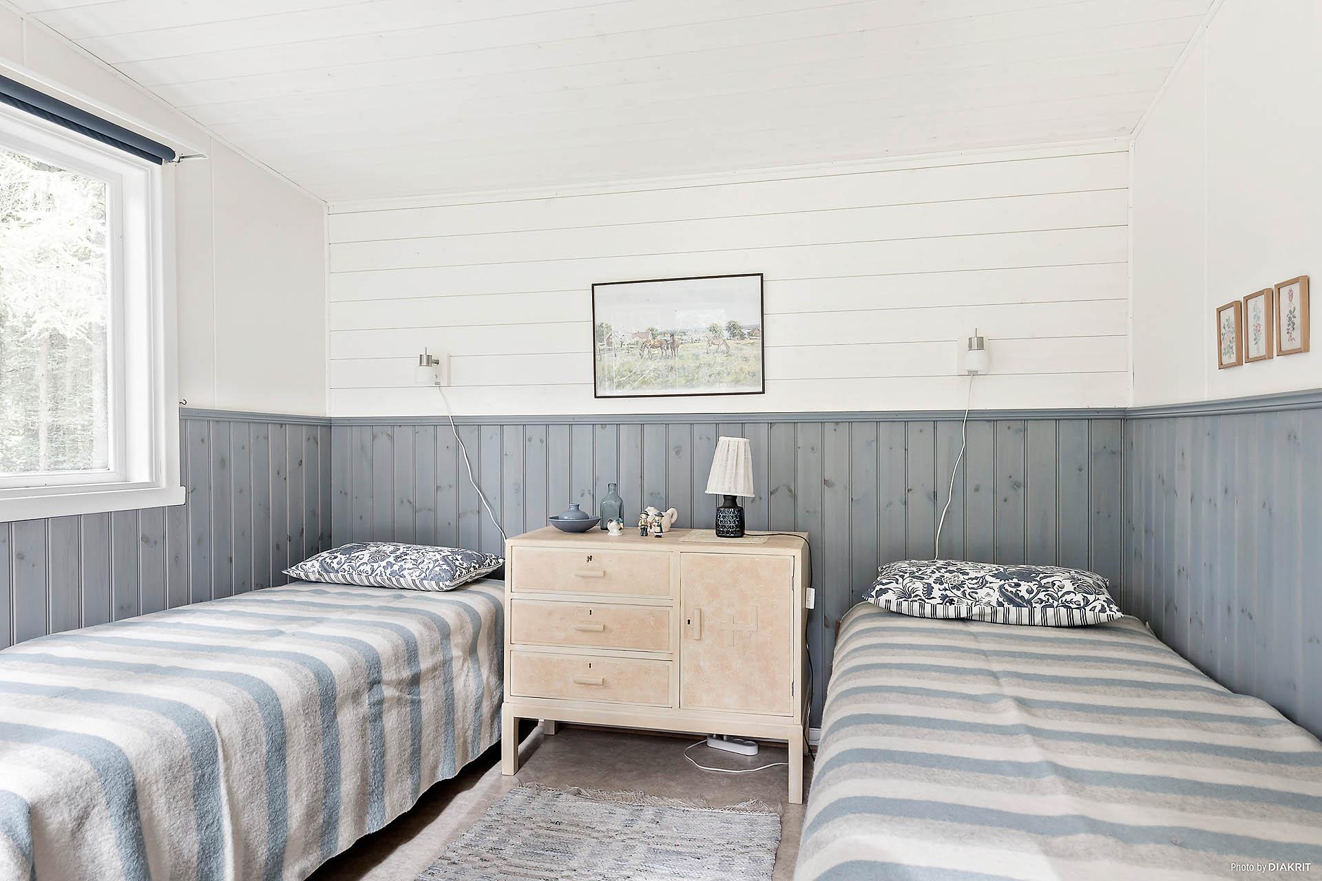 Rymligt sovrum i annexet.