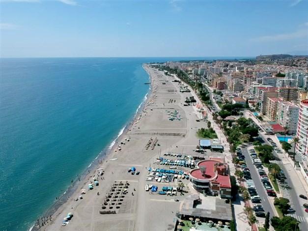 Flygfoto över Torre del Mar