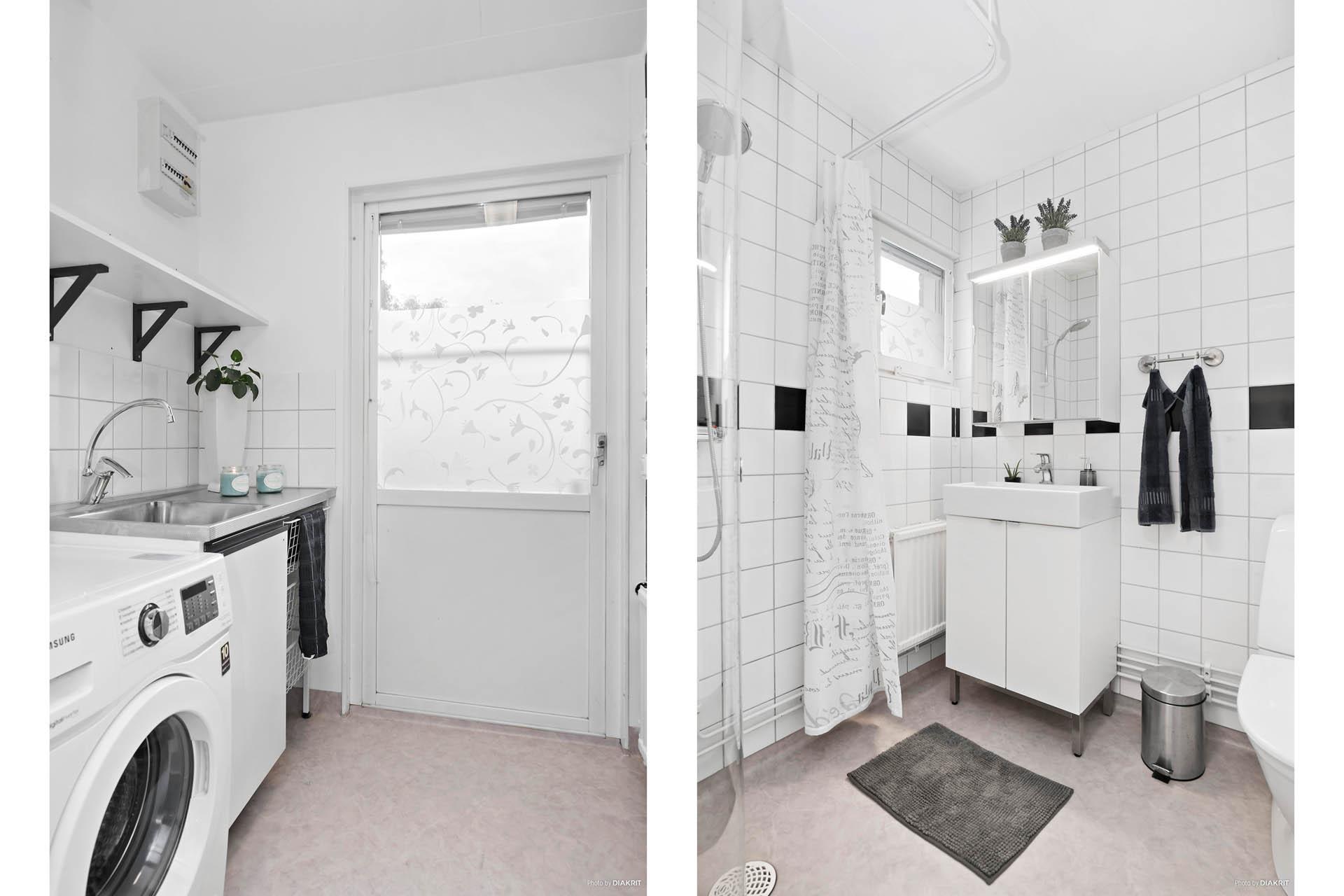 Groventré/tvättstuga ihop med badrum
