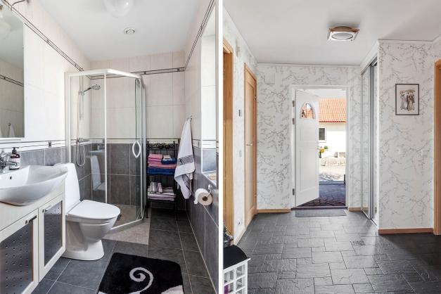 Hall och badrum