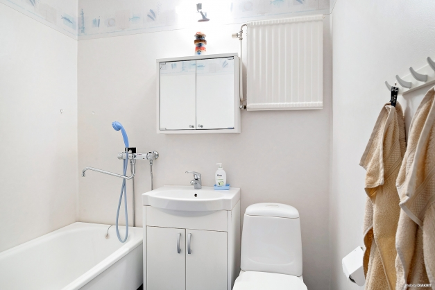 Ljust badrum renoverat för ca 6 år sedan