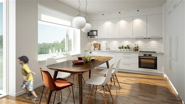 Illustrationsbild från en liknande lägenhet