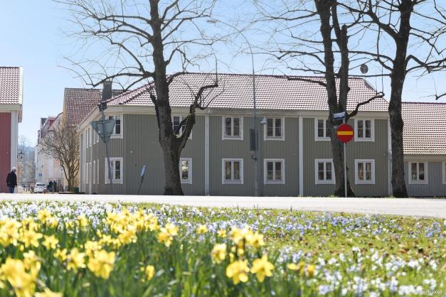 Charmig bebyggelse mitt i Alingsås