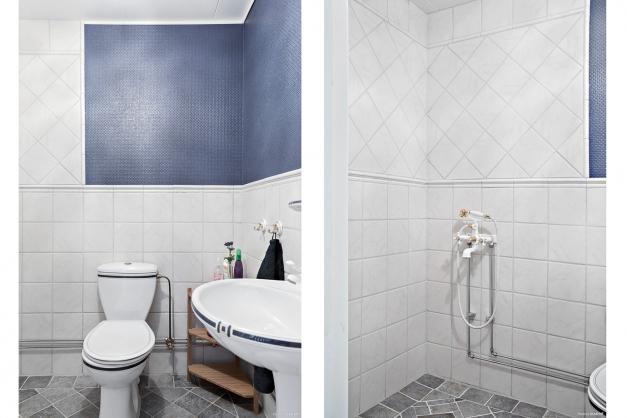 Badrum med plats för badkar på entréplan