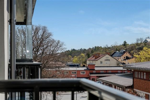 Vy från balkong mot centrum