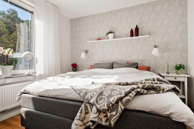 Sovrum 1  med plats för en dubbelsäng