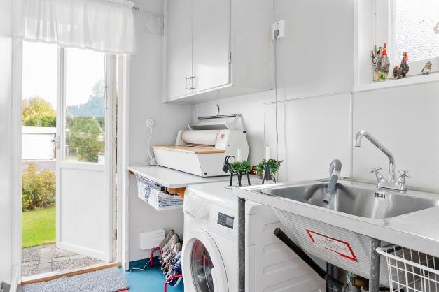 Tvättstuga med grovingång