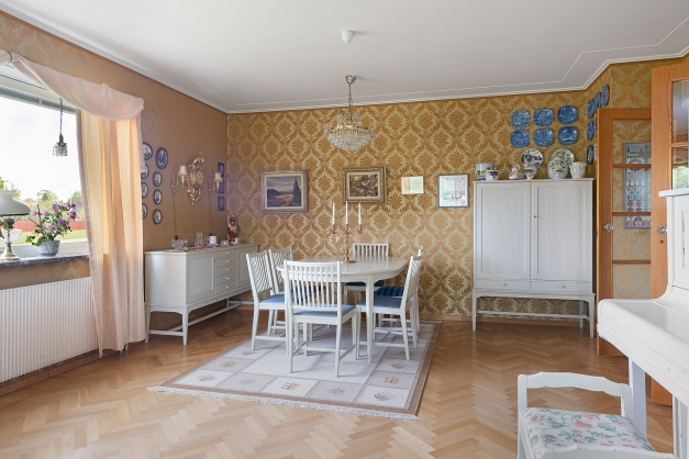 Matsalsdel i vardagsrummet