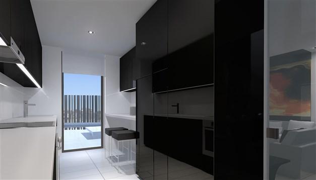 Köket - arkitektens 3D-bild