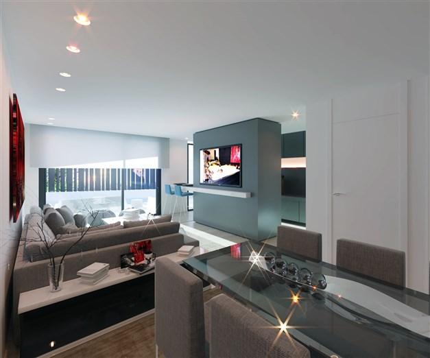 Vardagsrum - arkitektens 3D-bild
