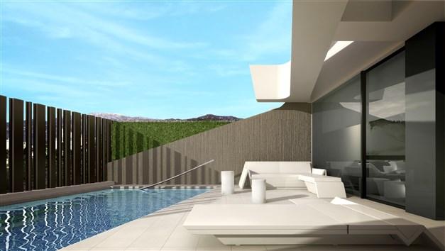 Terrass med pool - arkitektens 3D-bild