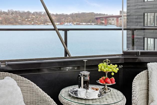 Fantastisk utsikt från balkongen