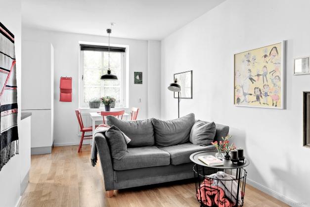 Vardagsrum integrerat med kök