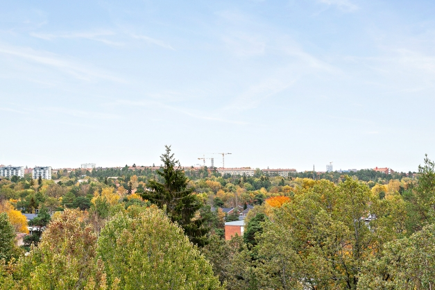 Utsikt från sovrumsfönster