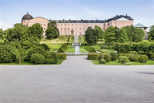 Områdesbild - Botaniska trädgården med vy mot slottet