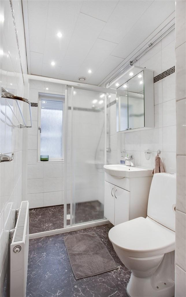 Dusch/wc på bottenvåningen.