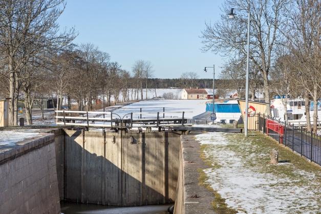 Områdesbild: Sluss till Göta kanal