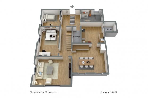 Planlösning plan 1 3 D
