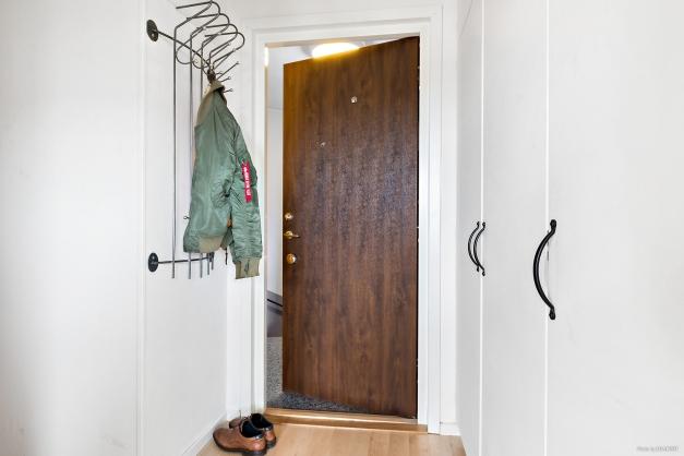 Hall med garderober
