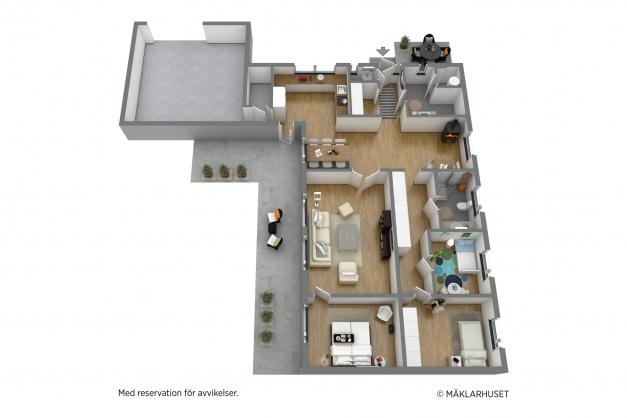 Planriting möblerad