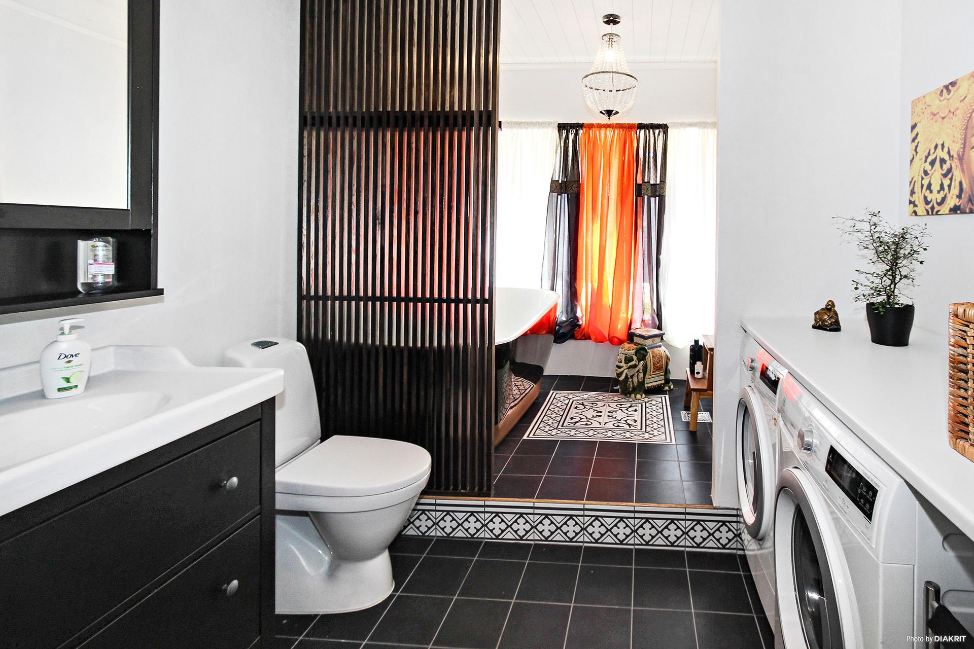 Kombinerat badrum/relax och tvättrum