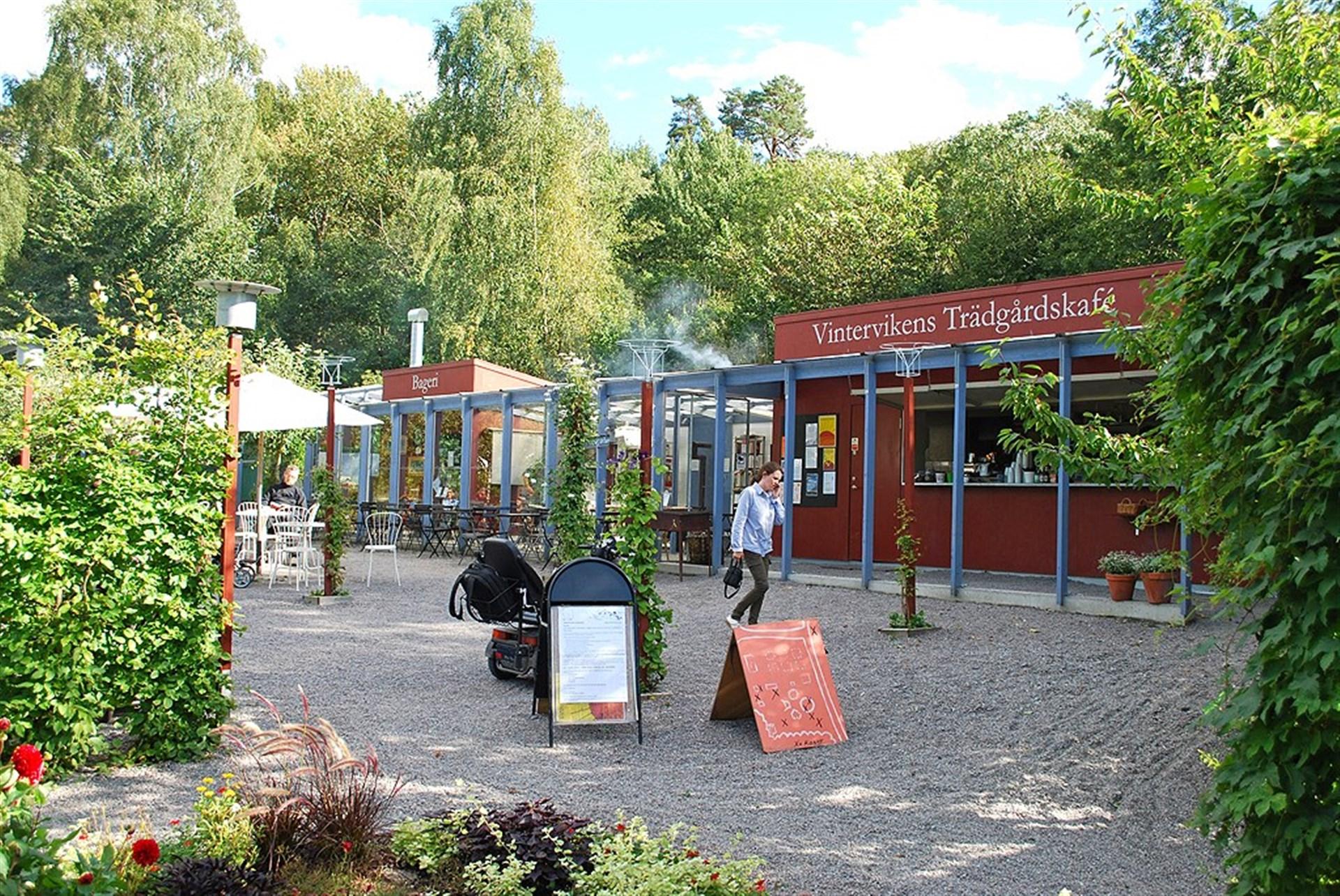 Trädgårdscaféet i Vinterviken
