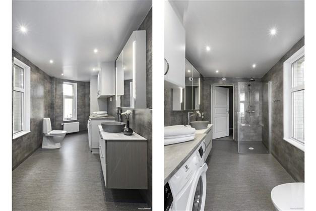 Toalett/dusch med tvätt och tork