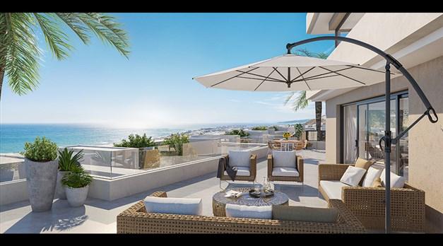 Illustrationsbild - samtliga hus har flertal stora terrasser