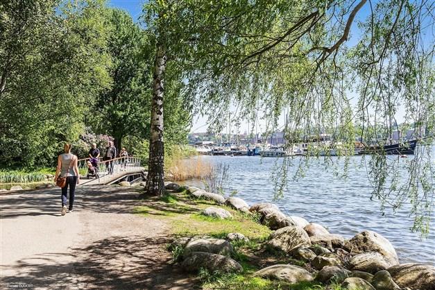 Promenadstråk längs med Norr Mälarstrand