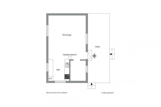 Planlösing hus 1