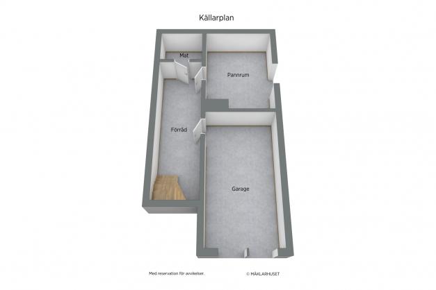 Planskiss 3d - Källarplan