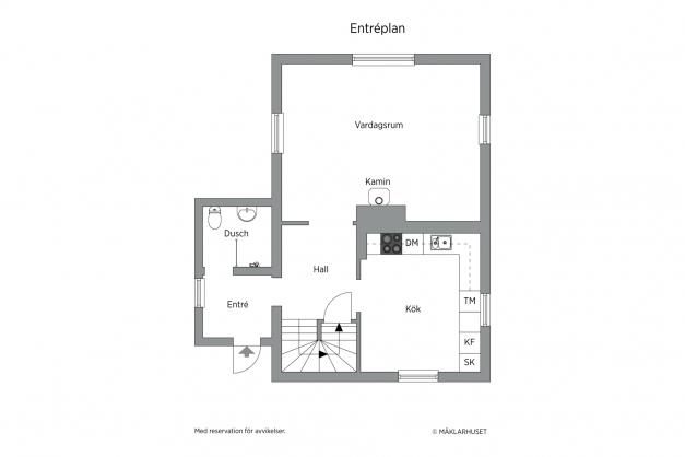 Planskiss - Entréplan