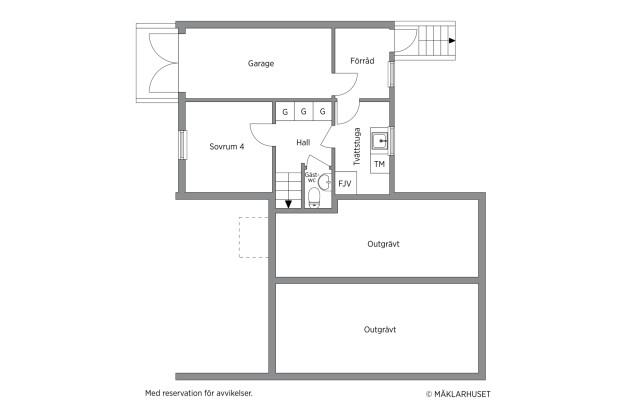Bottenplan och garage